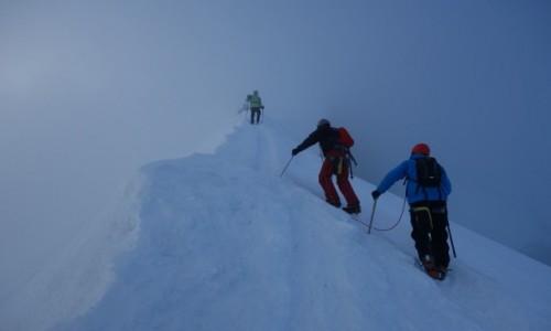 Zdjecie FRANCJA / Alpy / Masyw Mont Blanc / Nic nie widzę, nic nie słyszę.