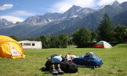 Zdjecie FRANCJA / Chamonix / Camping. / W drogę!
