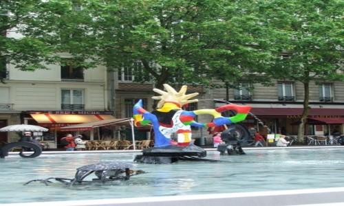Zdjecie FRANCJA / - / Paryż, 4 dzielnica, Place Stravinsky / Fontanna Strawińskiego