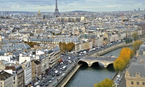Zdjecie FRANCJA / - / Paryż / Z dachu Notre Dame