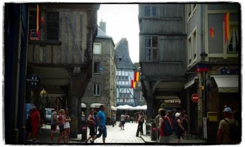 Zdjęcie FRANCJA / Bretania / Dinan / uliczka