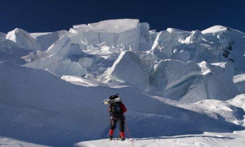 Zdjecie FRANCJA / brak / lodowiec Bosson / na lodowcu
