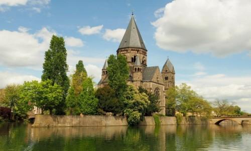 Zdjecie FRANCJA / Lotaryngia / Temple Neuf de Metz / nad Mozelą...