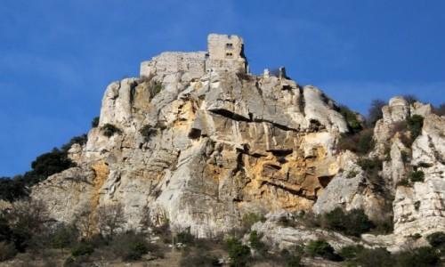 Zdjecie FRANCJA / Owernia-Rodan-Alpy / Rochemaure / Francja przejazdem