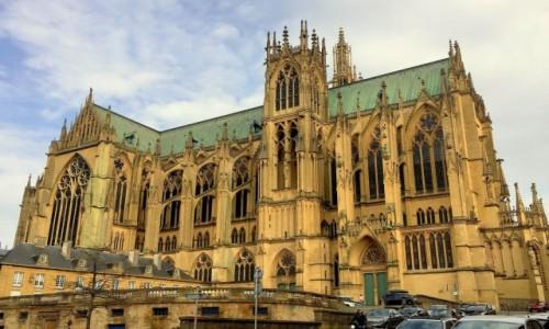 Zdjęcie FRANCJA / Lotaryngia / Cathedrale Saint-Etienne de Metz / Boża Latarnia...