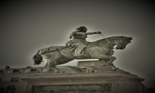 Zdjęcie FRANCJA / Centre-Val de Loire. / Orlean / Orlean, Statue équestre de Jeanne d'Arc