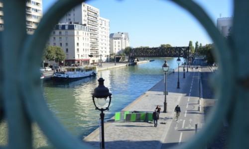 Zdjecie FRANCJA / - / Paryż / Kanał la Vilette