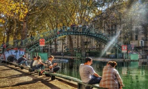 Zdjecie FRANCJA / - / Paryż / Nad kanałem Saint Martin