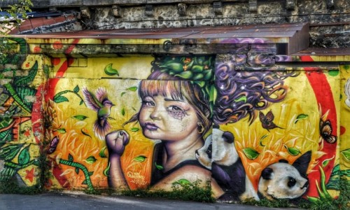 Zdjecie FRANCJA / - / PARYŻ / Street art La Villette
