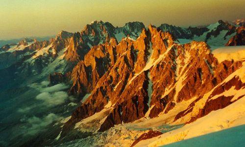 Zdjecie FRANCJA / Chamonix / Mont Blanc / Aiguille du Mid