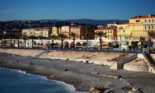 Zdjęcie FRANCJA / Lazurowe wybrzeże / Nicea / Plaża w Nicei