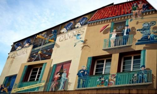 Zdjęcie FRANCJA / Lazurowe wybrzeże / Cannes / Filmowy mural