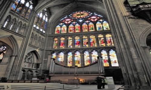 Zdjecie FRANCJA / Lo / Cathédrale Saint-Étienne de Metz / ogromne witraże...