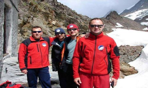 Zdjecie FRANCJA / Masyw Mont Blanc / Schron - Barak Forestiere / Razem w Baraku Forestiere