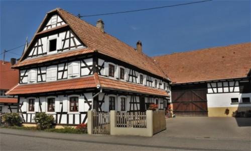 Zdjęcie FRANCJA / Alzacja / Hunspach / Hunspach, domy