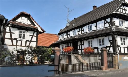 Zdjecie FRANCJA / Alzacja / Hunspach / Hunspach, domy