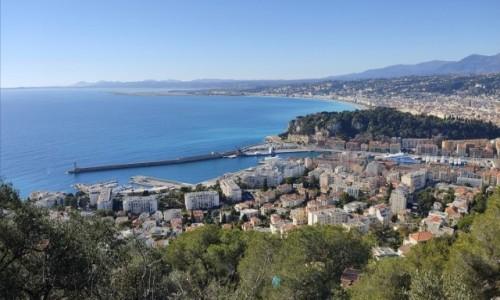 FRANCJA / Côte d'Azur / Nice / zatoka Aniolow