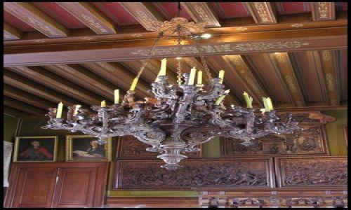 Zdjecie FRANCJA / brak / Montresor / Drewniany żyrandol