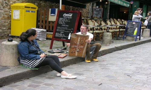 Zdjecie FRANCJA / brak / Paryż / Na Montmar...