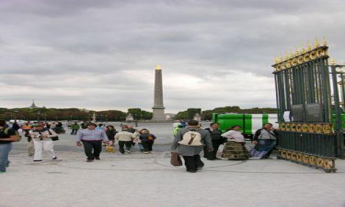 Zdjecie FRANCJA / brak / Paryż / Obelisk na Placu Zgody