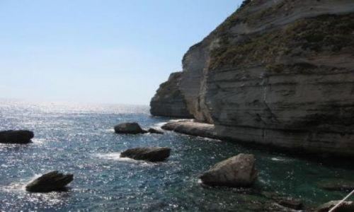 Zdjecie FRANCJA / Korsyka / Bonifacio / Skały w Bonifacio