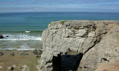 Zdjecie FRANCJA / Bretania / Côtes Sauvages / Surfingowcy