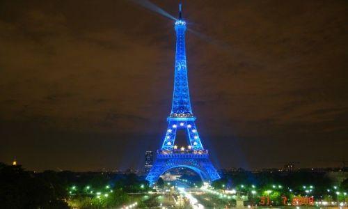 Zdjecie FRANCJA / brak / Paryż / Wieża Eifla nocą