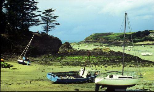 Zdjęcie FRANCJA / Bretania / płd wybrzeże / po odpływie