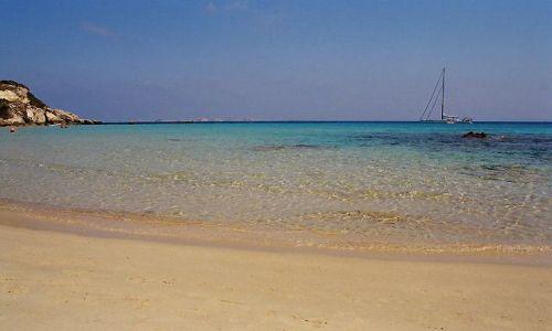 FRANCJA / Okolice Bonifaccio / Plaża Grande Sperone / Korsyka - Corse du Sud - Bonifaccio