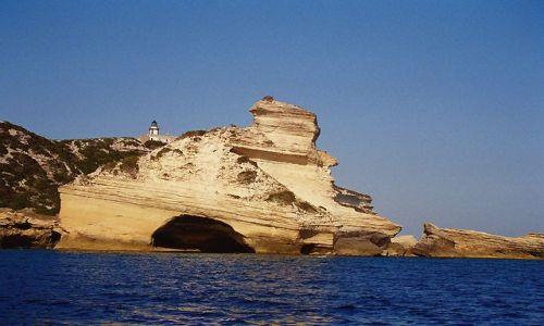 Zdjecie FRANCJA / Okolice Bonifaccio / Bonifaccio / Korsyka - Corse du Sud - Klify Bonifaccio