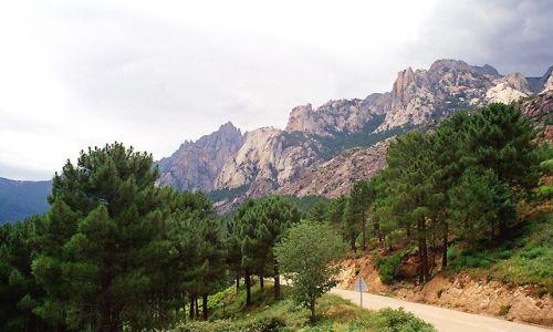 FRANCJA / Okolice Bonifaccio / Col de Beavelle / Korsyka - Corse du Sud - Droga do Col de Beavelle