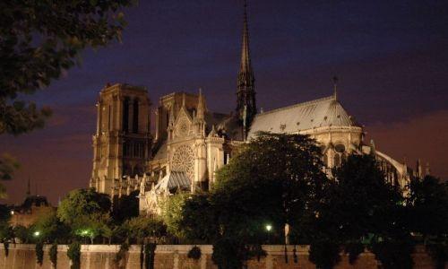 Zdjecie FRANCJA / Pary� / Notre Dame / wieczorny space