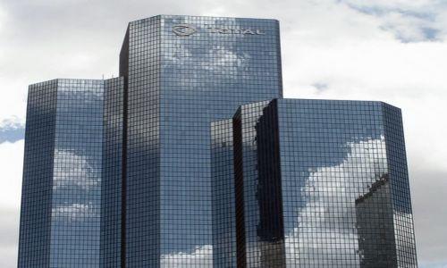 Zdjecie FRANCJA / brak / Paryż, dzielnica La Defense / niebo nad La Defense (błękitne wieżowce)