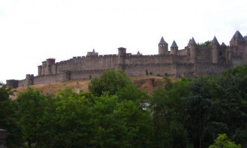 Zdjecie FRANCJA / Langwedocja / zamek w Carcassonne / Carcassonne o zmierzchu