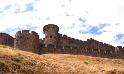 Zdjecie FRANCJA / Langwedocja / zamek w Carcassonne / Carcassonne-najwieksza w Europie sredniowieczna zabudowa urbanistyczna