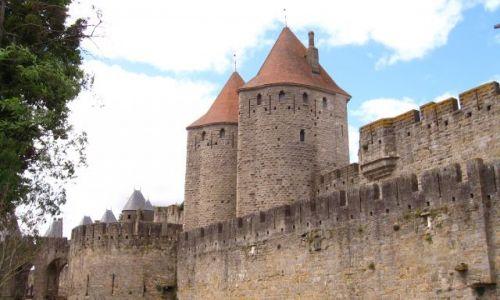 Zdjecie FRANCJA / Langwedocja / zamek w Carcassonne / Mury okalające miasto