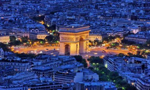Zdjecie FRANCJA / Ile-de-france / Paris / Widok z wieży (21.30)