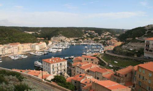 Zdjecie FRANCJA / Korsyka / Bonifacio / zatoka w Bonifacio