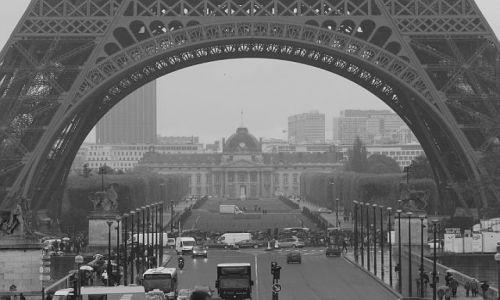 Zdjecie FRANCJA / - / Paryż / Pod wieżą