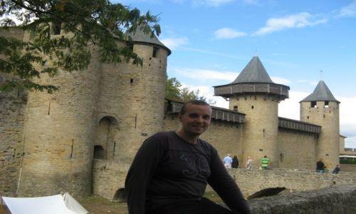 Zdjecie FRANCJA / Langwedocja-Roussillon / Carcassonne / Zamek w Carcassonne