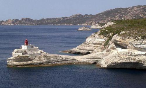 Zdjecie FRANCJA / Korsyka / Bonifacio / Latarnia