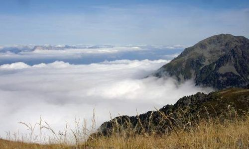 Zdjecie FRANCJA / -Alpy / okolice Albertville / Na szczycie Roche de Mio 2.739m npm, ponad chmurami