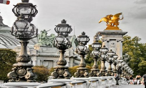Zdjecie FRANCJA / ile de France / Paryż / Most do Grand Palaice