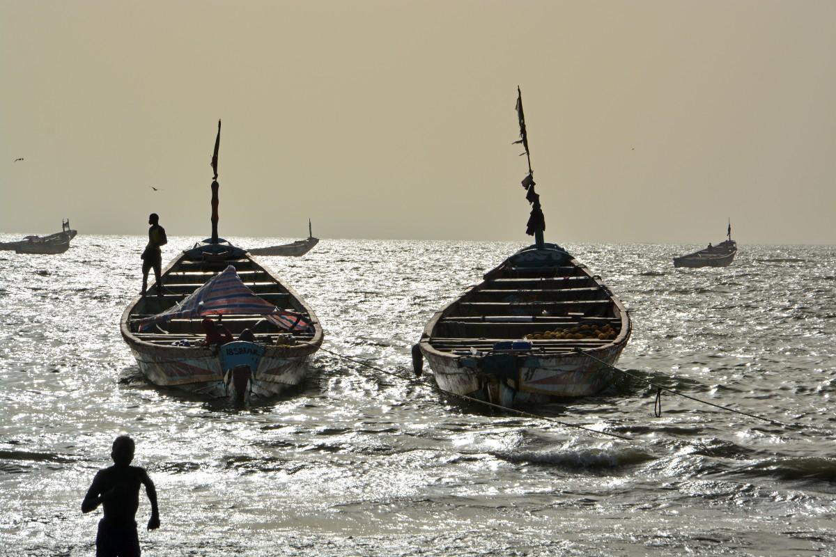 Zdjęcia: Sanyang, Rybacy, GAMBIA