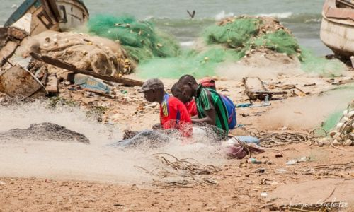 GAMBIA / Gambia / Gambia / African Road Trip - wioska rybacka w Gambii