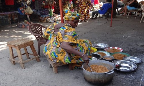 Zdjecie GAMBIA / Banjul / Banjul / African street
