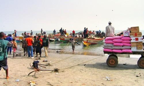 Zdjęcie GAMBIA / Rzeka Gambia / Banjul / Przygotowania do przeprawy