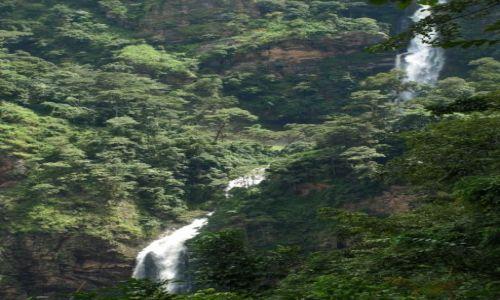 GHANA / Volta region / afryka / Wli Falls