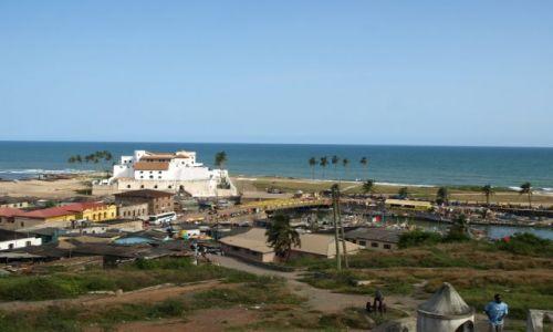 GHANA / wybrzeze / afryka / zamek w Cape Coast