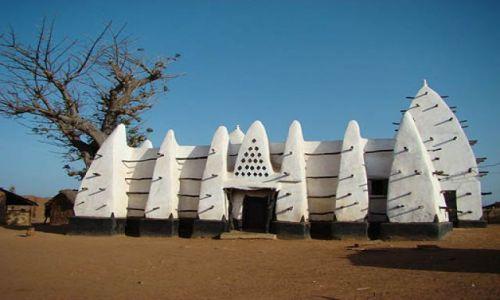 Zdjecie GHANA / TAMALE / wieś niedaleko wjazdu do Parku Mole / Biały Meczet